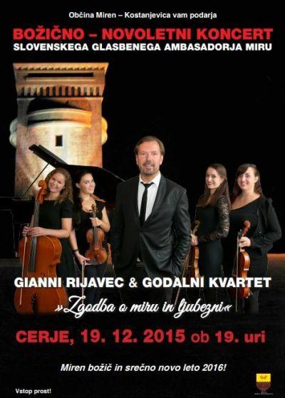 Gianni Rijavec & godalni kvartet - božično - novoletni koncert